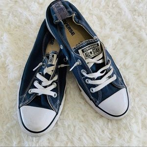 Converse navy blue slip on sneakers size 10